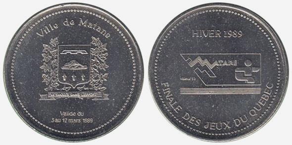 Matane - Hiver 1989 - Jeux du Quebec - Var 1