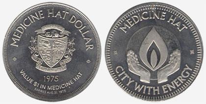 Medicine Hat - Souvenir Dollar - 1975