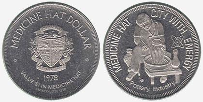 Medicine Hat - Souvenir Dollar - 1978