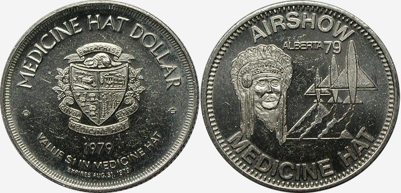 Medicine Hat - Souvenir Dollar - 1979