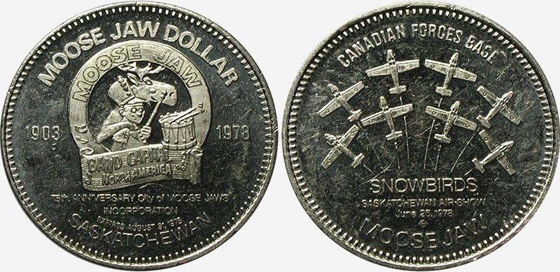 Moose Jaw Saskatchewan CANADA 1981 Trade DOLLAR Token with General Hospital