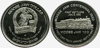 Moose Jaw - Trade Dollar - 1982