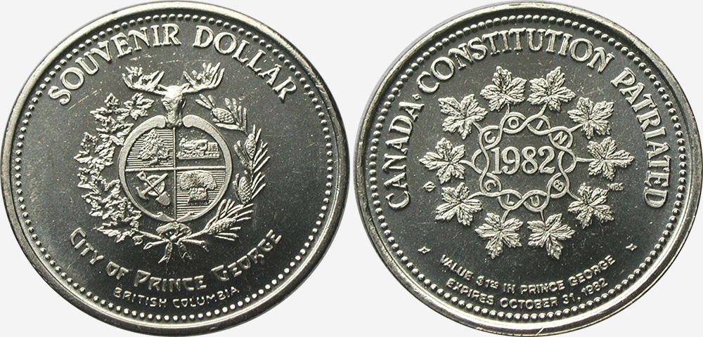 Prince George - Souvenir Dollar - 1982
