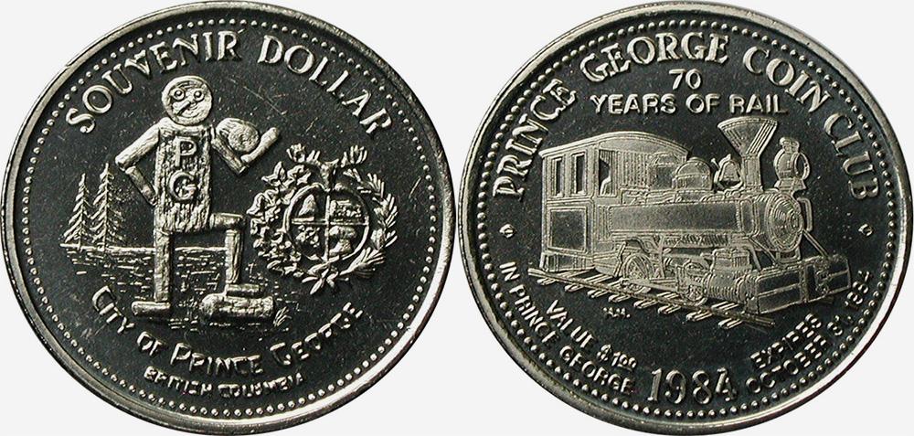 Prince George - Souvenir Dollar - 1984