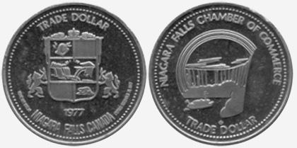 Niagara Falls - Trade Dollar - 1977