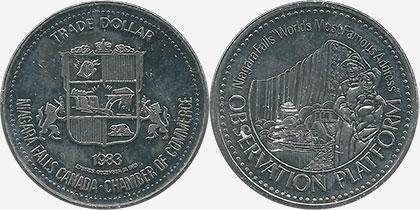 Niagara Falls - Trade Dollar - Observation Platform - 1983