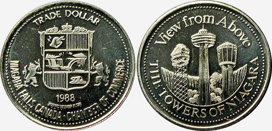 Niagara Falls - Trade Dollar - Queenston Heights - 1988