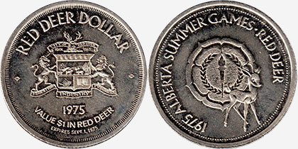 Red Deer - Trade Dollar - 1975