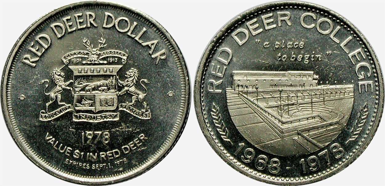 Red Deer - Trade Dollar - 1978