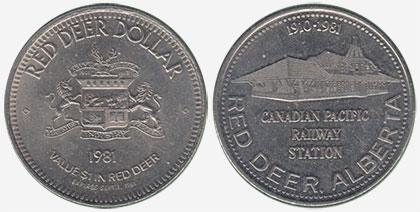 Red Deer - Trade Dollar - 1981