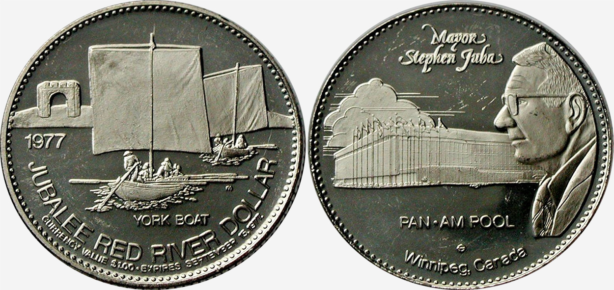 Winnipeg - Jubalee Red River Dollar - 1977 - York Boat
