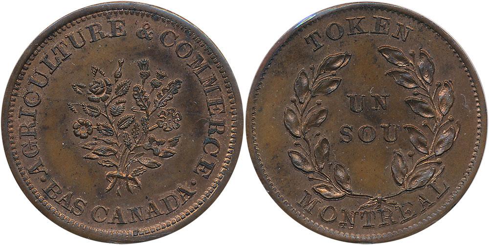 MS-60 - Bouquet - 1 sou 1838