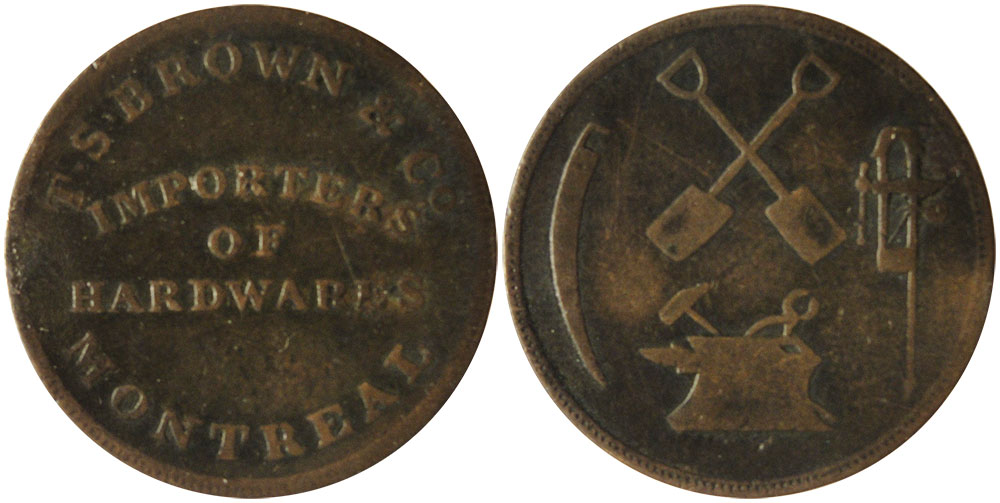 F-12 - T.S. Brown & Company - 1/2 penny 1837