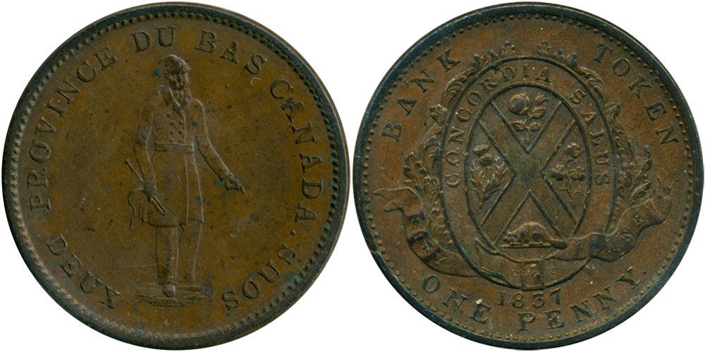 EF-40 - 1 penny 1837