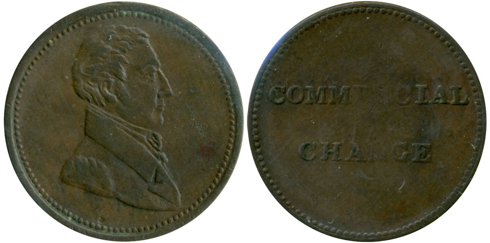 EF-40 - Commercial Change - 1/2 penny 1830