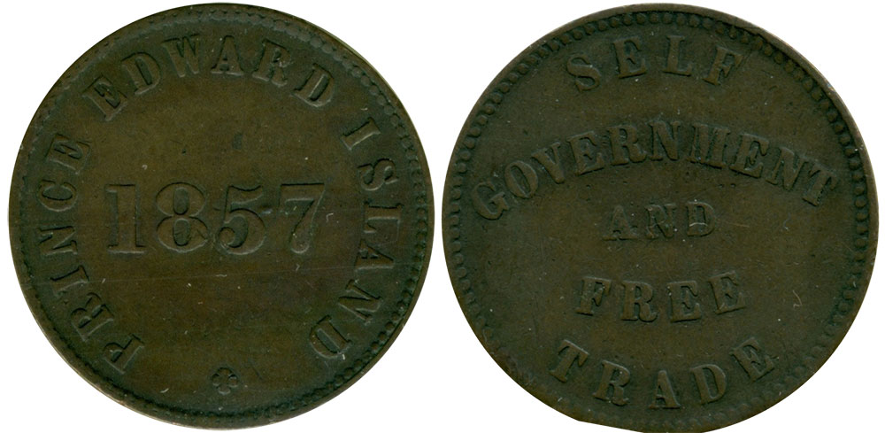 VF-20 - George Davies - 1/2 penny 1857