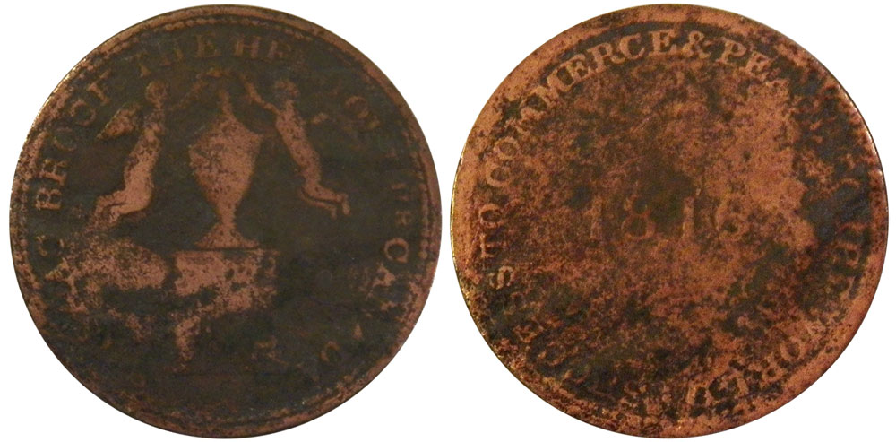 AG-3 - Sir Isaac Brook - 1/2 penny 1816