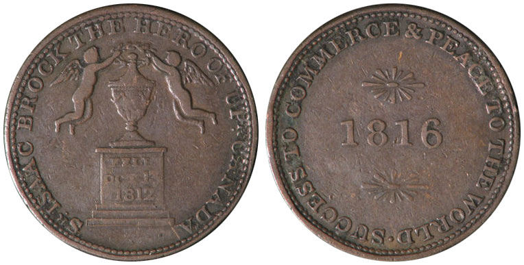 F-12 - Sir Isaac Brook - 1/2 penny 1816