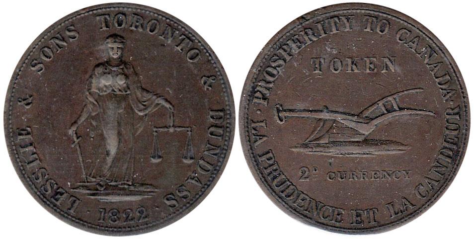 EF-40 - Lesslie & Sons - 2 pence 1822