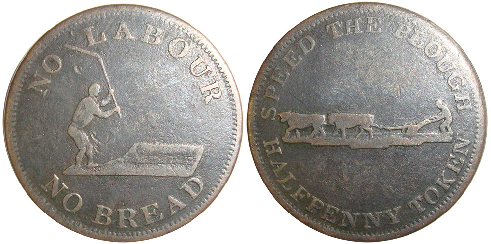 VG-8 - Perrins Bros. - 1/2 penny 1837