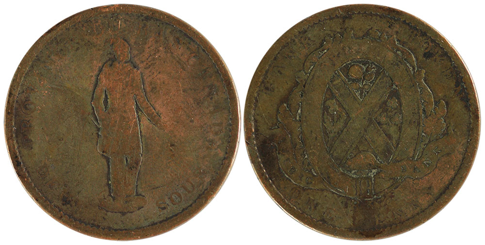 AG-3 - 1/2 penny 1837