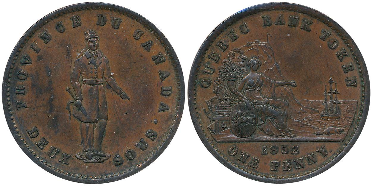 EF-40 - 1 penny 1852
