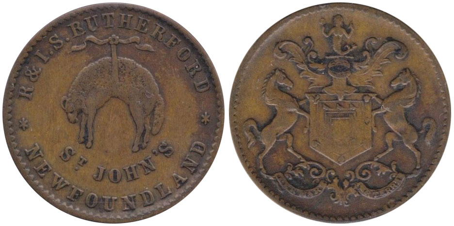 VF-20 - Rutherford Brothers - 1/2 penny - 1841
