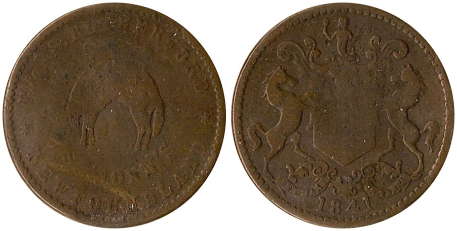 G-4 - Rutherford Brothers - 1/2 penny - 1841