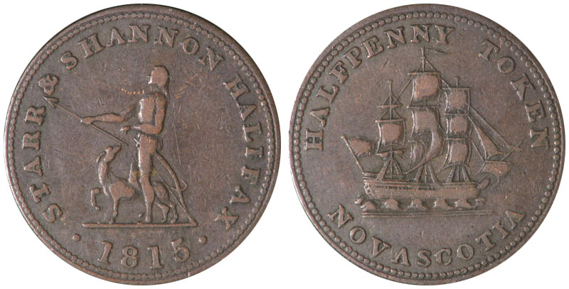 F-12 - Starr & Shannon - 1/2 penny 1815