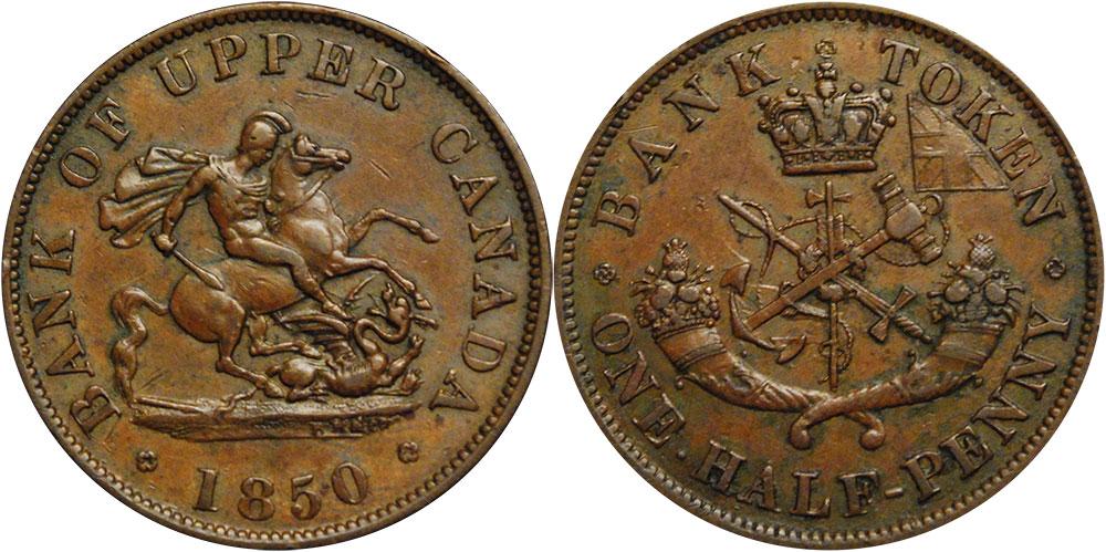 F-12 - 1/2 penny 1850