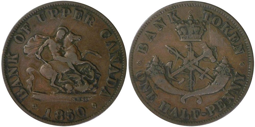 VG-8 - 1/2 penny 1850