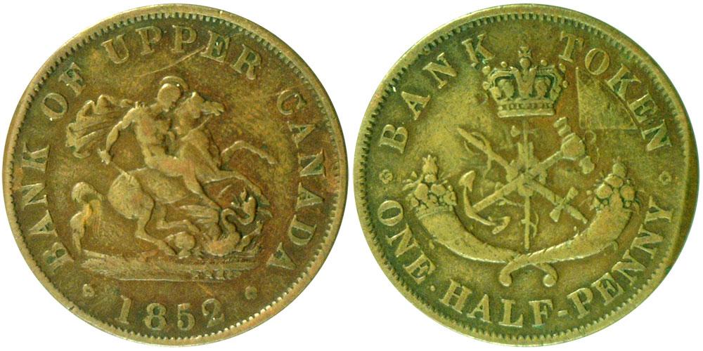 VG-8 - 1/2 penny 1852