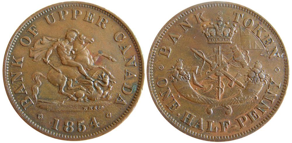 EF-40 - 1/2 penny 1854