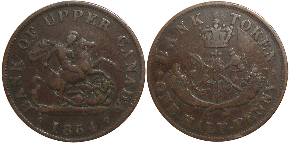 G-4 - 1/2 penny 1854