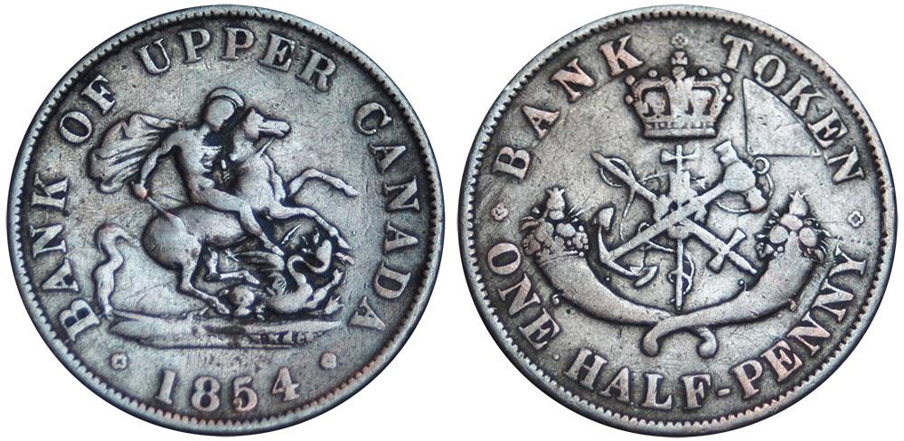 G-4 - 1/2 penny 1854