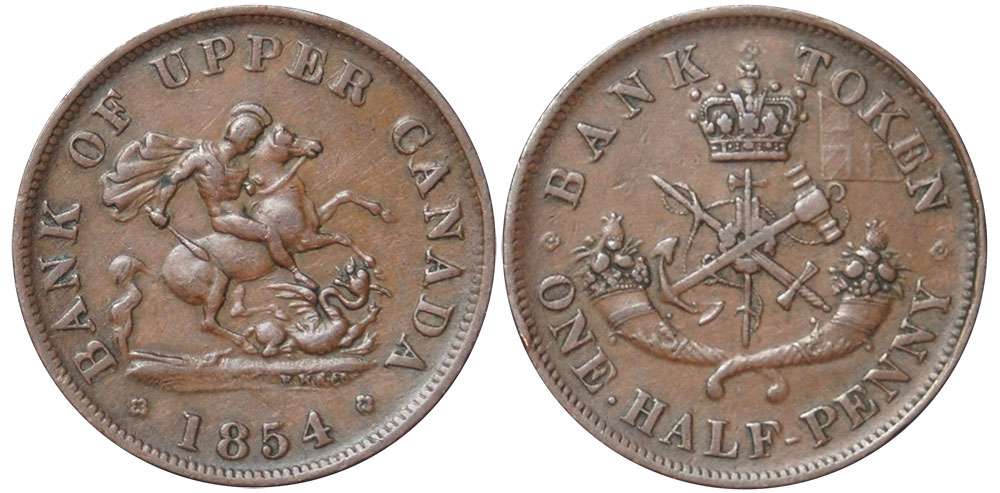 VF-20 - 1/2 penny 1854