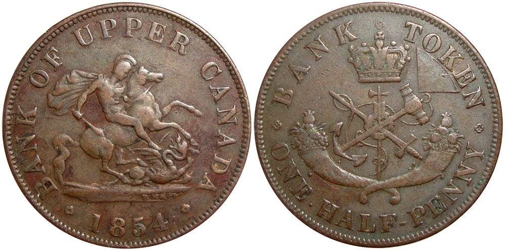 VG-8 - 1/2 penny 1854