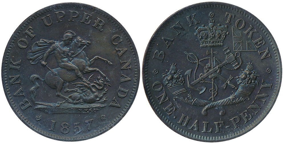 MS-60 - 1/2 penny 1857