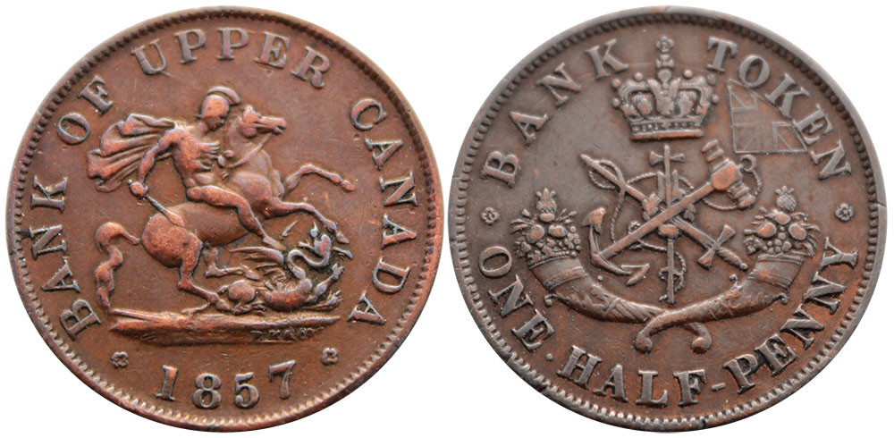 VF-20 - 1/2 penny 1857
