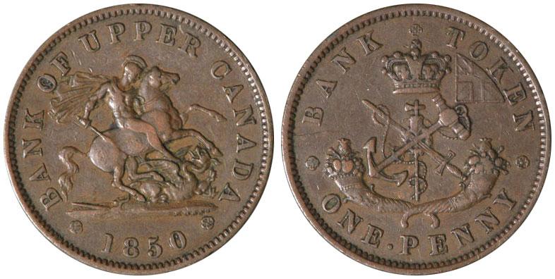 VF-20 - 1 penny 1850