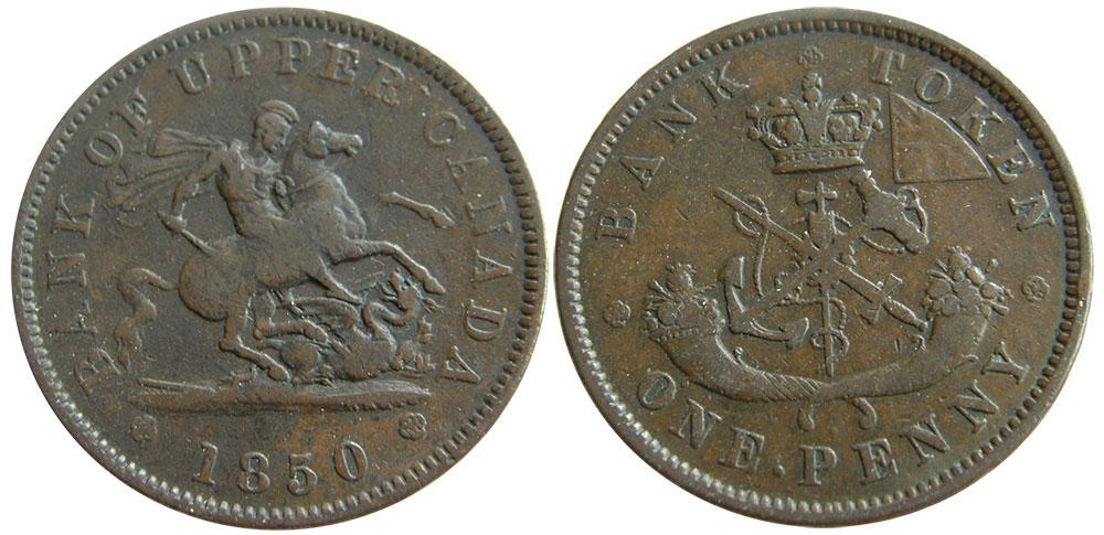 VG-8 - 1 penny 1850