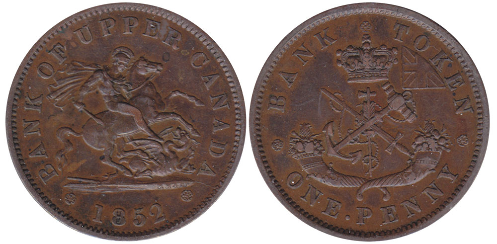 AU-50 - 1 penny 1852
