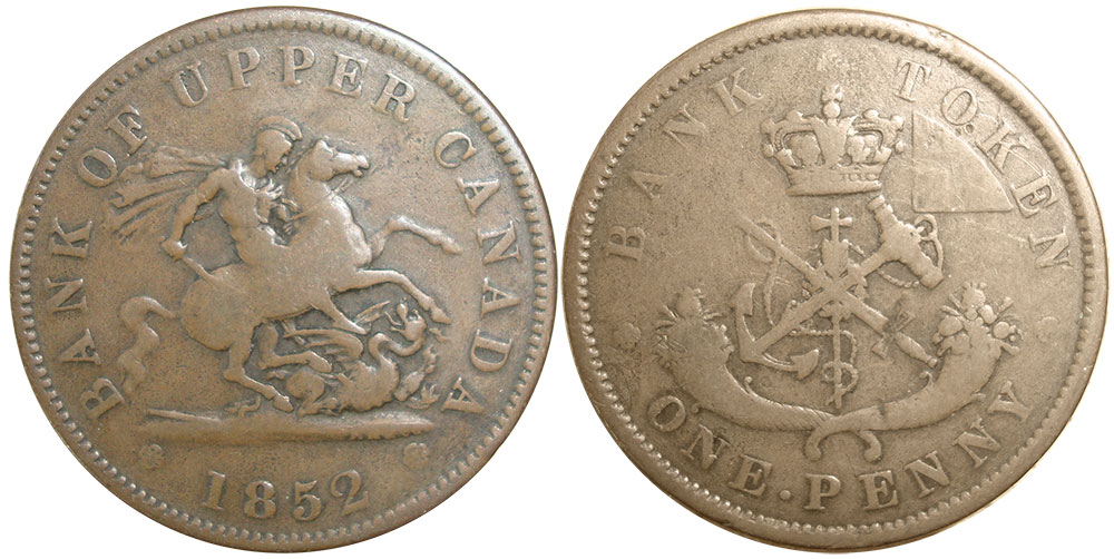 VG-8 - 1 penny 1852