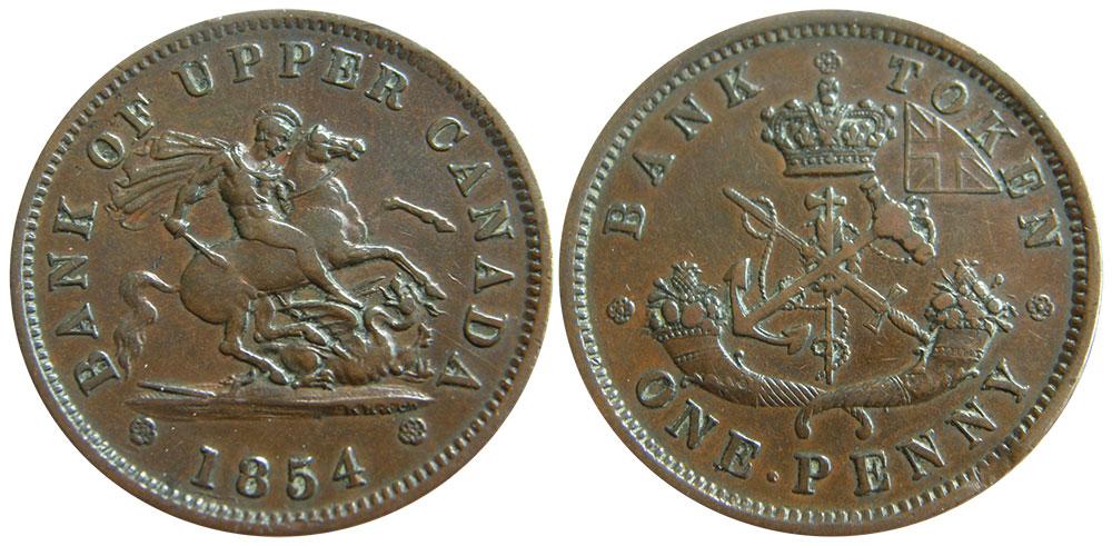 EF-40 - 1 penny 1854