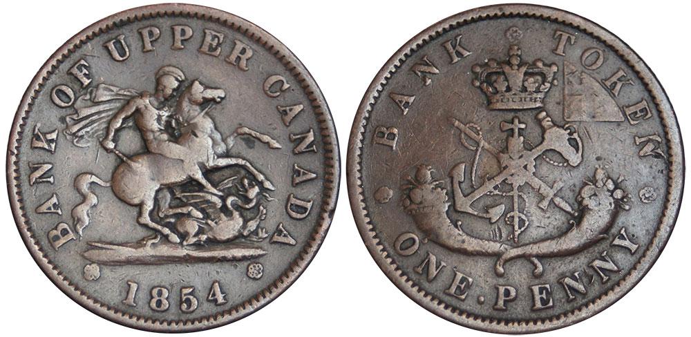 VG-8 - 1 penny 1854