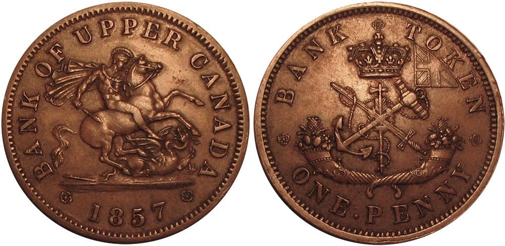 AU-50 - 1 penny 1857