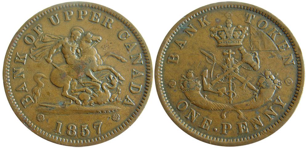 F-12 - 1 penny 1857