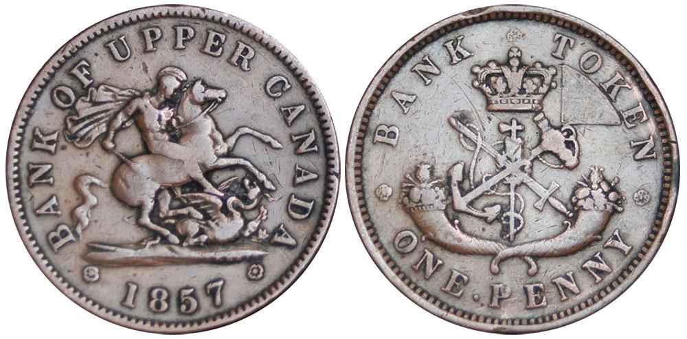 VG-8 - 1 penny 1857
