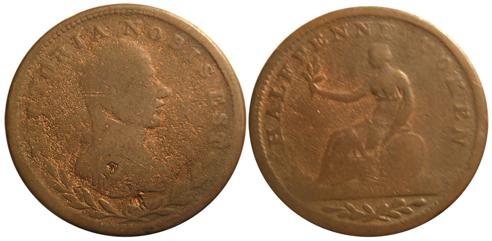 AG-3 - Victoria - 1/2 penny 1813