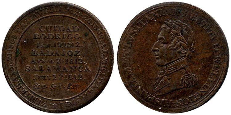 AU-50 - 1/2 penny 1812